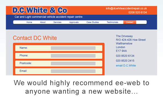dc white accident repair