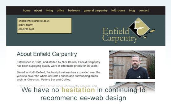 Enfield Carpentry homepage