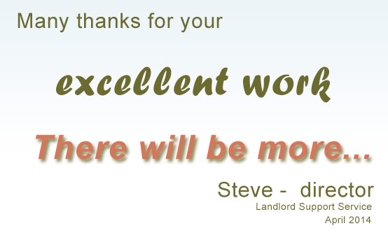 landlord support say thank you to Edward at ee-web design