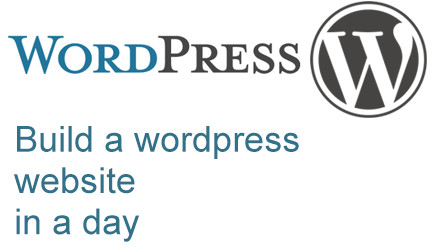 build a wordpress webiste in a day
